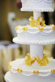 Delicious wedding cake — Stock Photo