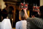Cérémonie du mariage orthodoxe — Photo