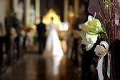 White flower wedding decoration — Stock Photo
