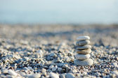Pebbles in balancing — Stock Photo