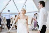 Bride and groom — Stok fotoğraf