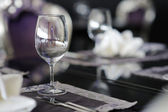Wine glass on a table — Stock Photo