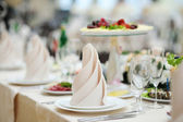 Table set for an event party — Stockfoto