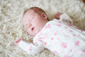 Newborn baby girl portrait — Stock Photo