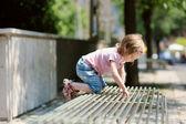 Adorable little girl having fun — Stock Photo