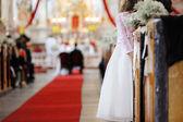 Girl watching a wedding ceremony — Stock Photo