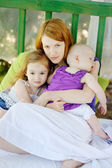 Mother and her two daughters — Stock Photo