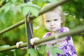Angry toddler girl — Stock Photo