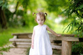 Little thoughtful toodler girl — Stock Photo