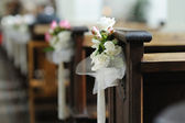 Beautiful flower wedding decoration — Fotografia Stock