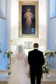 Catholic wedding ceremony — Stock Photo