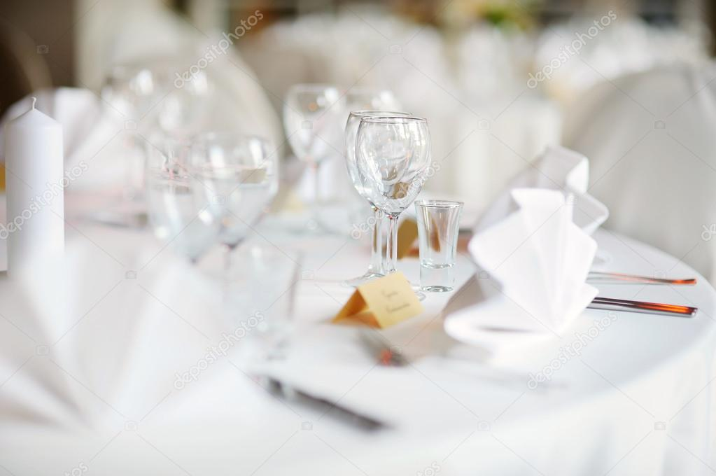 Table set for an event party or wedding reception — Stock Photo #13727392