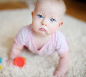 Adorable baby girl — Stock Photo