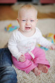 哭泣的婴儿 — 图库照片