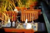 Beautiful outdoor cafe — Stockfoto