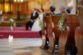 Lindas flores silvestres, decoração do casamento — Foto Stock