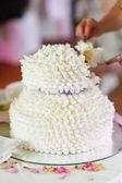Luxusní bílé svatební dort — Stock fotografie