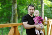 Young father and his little daughter — Stock Photo