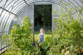 Adorável pequeno jardineiro — Foto Stock