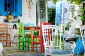 Beautiful outdoor cafe — Stockfoto