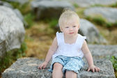 Roztomilá malá holka portrét — Stock fotografie