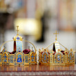 Two crowns as orthodox wedding accessories — Stock Photo #43464037