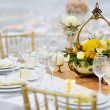 Table set for an event party or wedding reception — Stock Photo #43464007