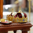 Two crowns as orthodox wedding accessories — Stock Photo #43464029
