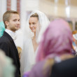 Bride and groom before a wedding ceremony — Stock Photo #43465211