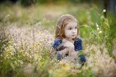 Adorable girl portrait outdoors — Stock Photo