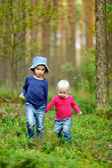 Two adorable little sisters hiking — ストック写真