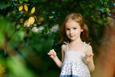 Adorable girl portrait outdoors — Foto Stock