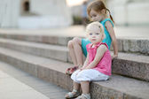 Portrait of two little sisters — Stock Photo