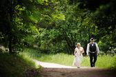 Noivo e noiva linda — Fotografia Stock