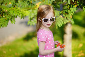 Adorable toddler girl portrait outdoors — Стоковое фото