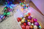 Různé barevné vánoční dekorace — Stock fotografie