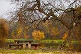 Idylické podzimní krajina — Stock fotografie