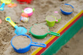 Plastic sandbox toys — Stock Photo