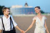 Beach wedding — Stock Photo