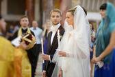 結婚式中に新郎新婦 — ストック写真