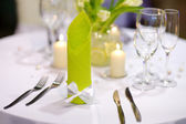 Table setting for an event party — Stock Photo