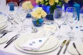 De instelling van de tabel voor een gebeurtenis partij — Stockfoto
