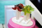 Funny mustache-shaped lollipops on a sticks — Stock Photo