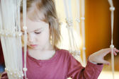 Adorable little girl portrait indoors — Foto de Stock