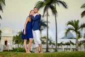 Young couple on a tropical resort — Stock Photo