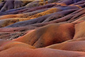 Chamarel seven coloured earths on Mauritius — Stock Photo