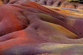 Chamarel seven coloured earths on Mauritius — Stockfoto