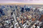 New yorks manhattan skyline flygfoto — Stockfoto