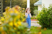 Adorable girl portrait outdoors — Stock Photo