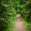 Little girl walking all alone — Stock Photo #49274989